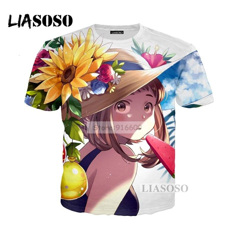 LIASOSO NEW Anime Boku No Hero My Hero Academia Cosplay Tees 3D Print t shirt/Hoodie/Sweatshirt Unisex Good Quality Tops G782