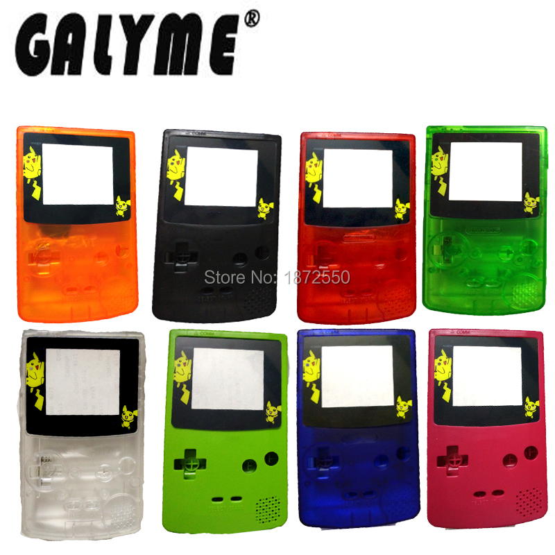 Whole Sale 8 Color Choose Limited Pocket Cartoon GameboyColor GBO DMG Game Console Housing For Shell Replace With Logo-