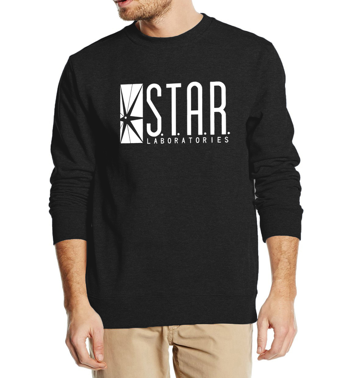 Superman Series Men Sweatshirt STAR S.T.A.R.labs autumn winter  2018 new fashion hoodies cool streetwear tracksuit high quality