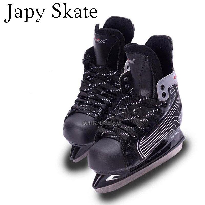 Prix pour Jus japy Skate VIK MAX Hockey Sur Glace Chaussures Enfant Adulte Glace patins Professionnel Fleur Couteau Hockey Sur Glace Couteau Chaussures la Vraie Glace patins