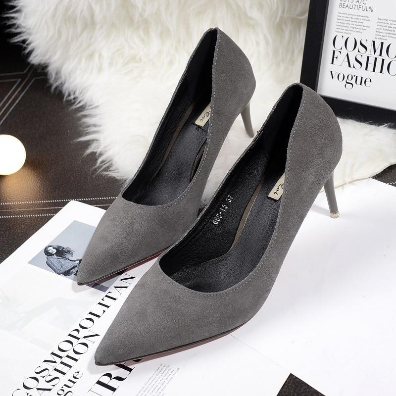2016 New Brand Fashion font b Women b font Pumps Red Bottom Thin High Heel Pumps