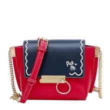 DuoLaiMi 2019 New Arrival  Metal Circular Embroidery Rivet Panelled Girl Women Cross body Shoulder Bag Hobos Trapeze