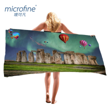 Microfine Microfiber Beach Towel Luxury Summer Brand Bath Towel Fire Balloon Sports Yoga Mat Large Size 100x180cm Picnic Blanket