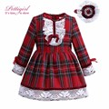 Pettigirl Boutique Red Grid Girls Dresses With Headbands Cotton Kids Clothing Hot Selling Dresses For Girls G-DMGD908-1008