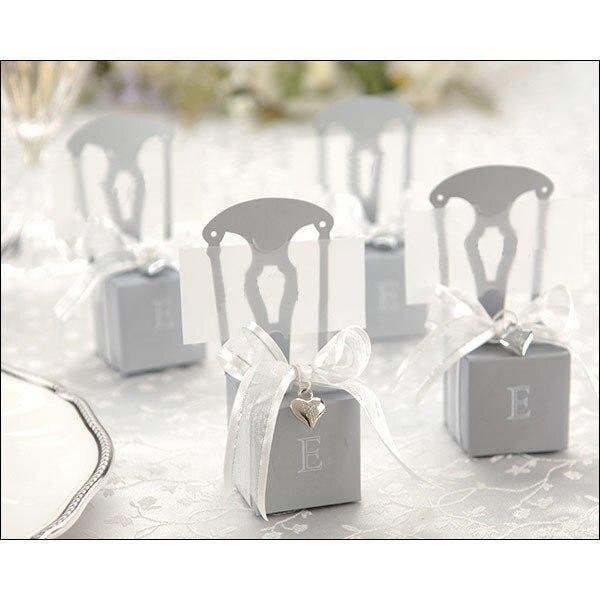 200 шт./лот золото Серебряное кресло бумажные свадебные сувенирные коробки meiguixinyu40 - Цвет: silver