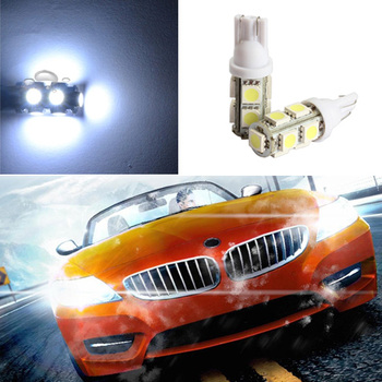2pcs T10 5 SMD 5050 LED 194 168 W5W Car Side Wedge Tail Light Lamp Bulb Car Tail light Side Parking Dome Door Map light image