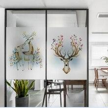 Frosted glass stickers Nordic ins elk Bathrooms balcony door windows electrostatic transparent opaque film