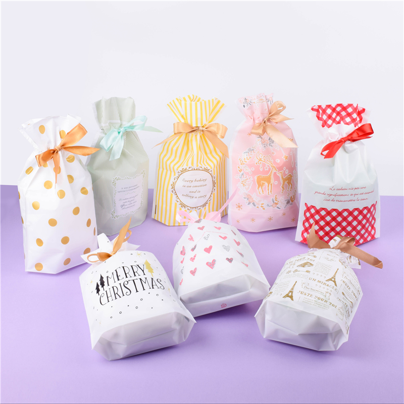 Wedding Candy Bag Christmas Party Small Gift Bag Decorations New Year Presents Cookie Bags Snack Baking Nicorn Party Supplies