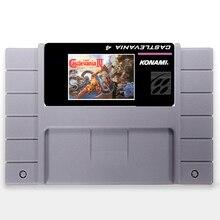 Super Castlevania 4 EUA Versão de 16 bits Big 46 pinos Cinza Cartão de Jogo Para O Jogador Do Jogo NTSC