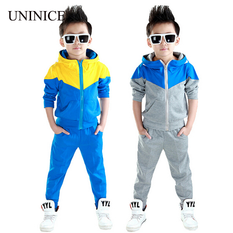 Clothes boys 2015 new arrival baby boys hoodied coats and jackets +pants sets korean fashion clothing sports suit kids tracksuit