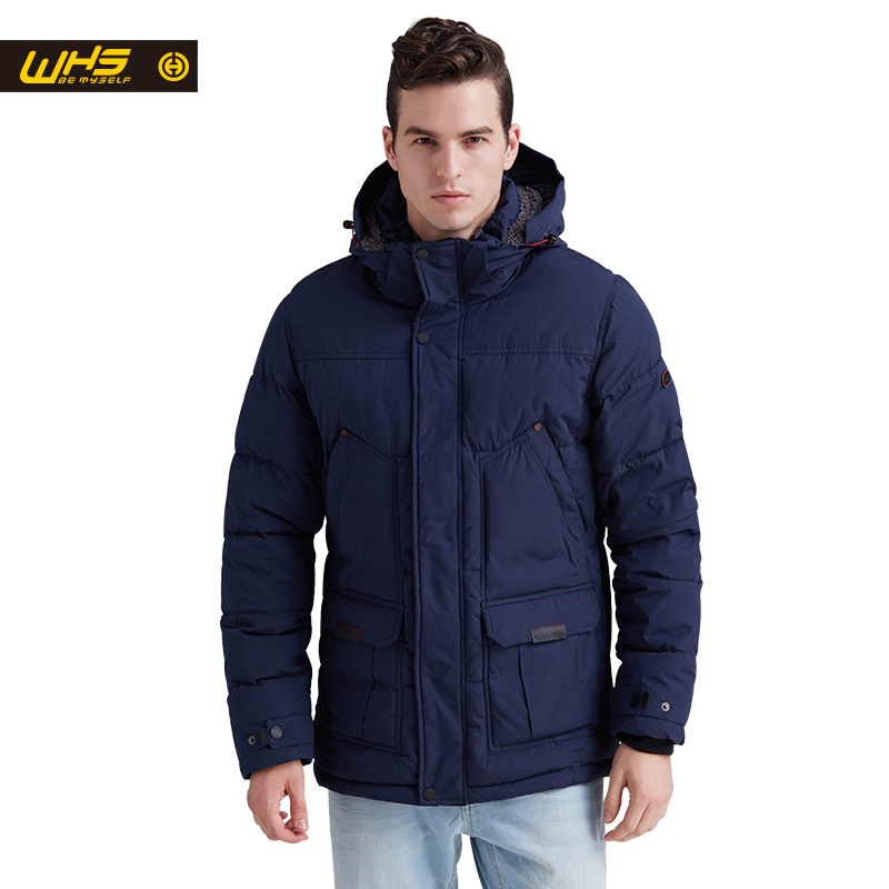 WHS NEW Men cotton jacket outdoor in Winter mens parkas thick warm coats male thermal jackets windproof coat hiking clothing pioneer camp new mens jackets coat brand clothing casual bomber jacket men fashion quality solid outerwear coats male ajk801051