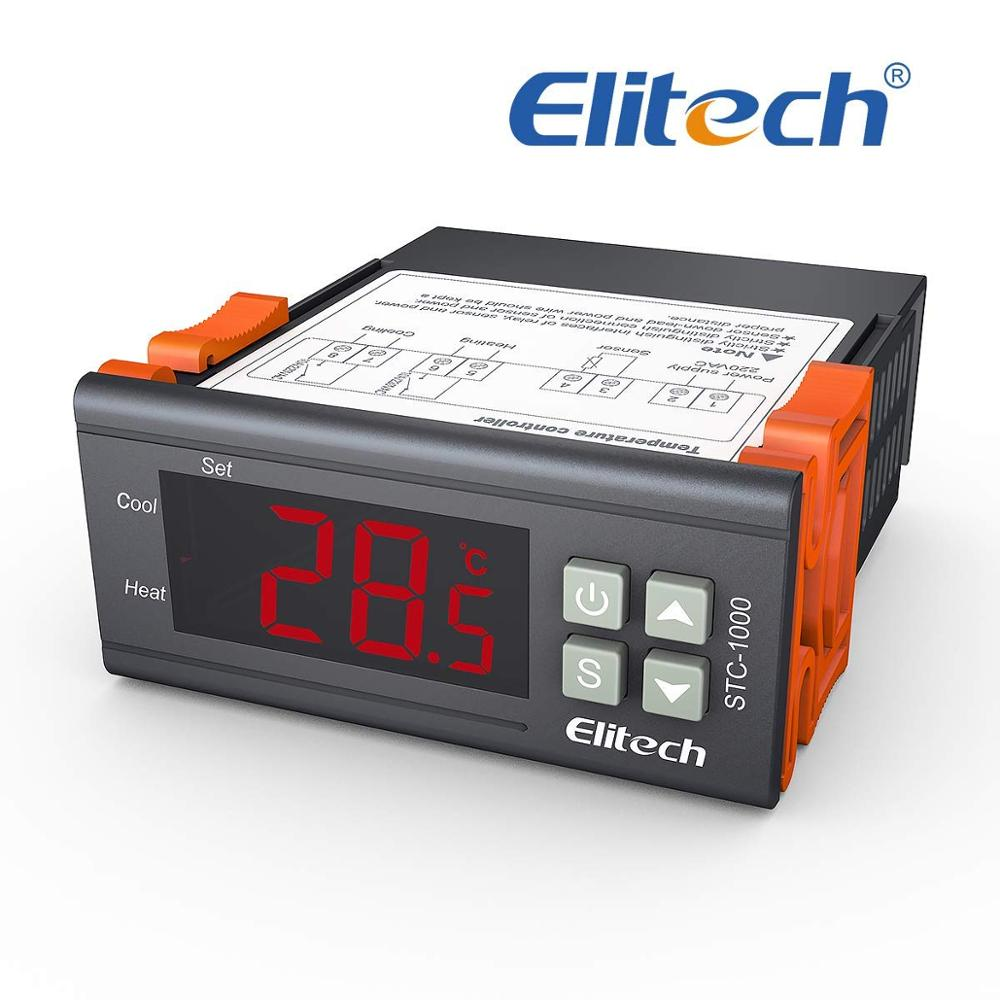R/égulateur de temp/érature /à double affichage num/érique Thermostat R/égulateur de temp/érature avec sonde NTC /à double sonde de chauffage Sonde de d/étection de relais /à deux sorties 110-220V