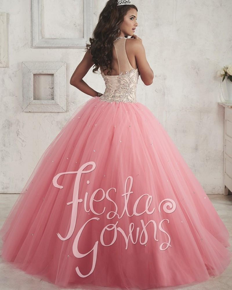 Hermosa Rosa Vestidos de Quinceañera 2017 Vestido de Falda de Tul ...