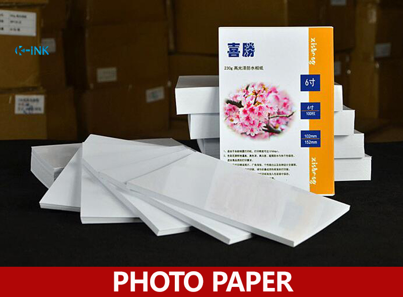 100 Sheets Waterproof Luminous 4R 6-inch Photo Paper For Inkjet Printers , 230g Photo Paper