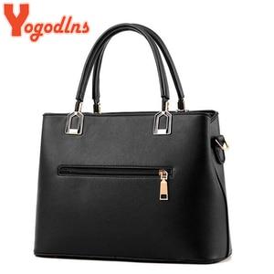 Image 4 - Yogodlns Classic Pure Color Women PU Leather Tote Tassel Bags Female Top handle Handbag Fashion Crossbody Shoulder Bag for Lady