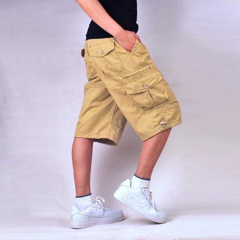 Casual Shorts New Mens Shorts Casual 2016 Summer Mens Short Casual Cotton Solid Cargo Shorts Multiple Pockets Fashion Shorts Men High Quality