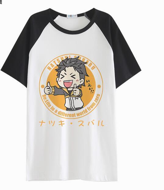 Re Zero kara Hajimeru Isekai Seikatsu Subaru Natsuki rem ram life in a different world Cosplay costume tshirt tee