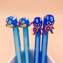 2 pcs/lot Hero Erasable Press Gel pen Cute Blue Ink Signature pens School Office writing Supplies Stationery gift Papelaria