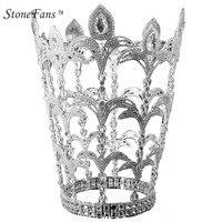StoneFans Store Unbelievable Big Crown Window Display Jewelry Decorations Rhinestone Christmas King Queens Bridal Crowns Tiara