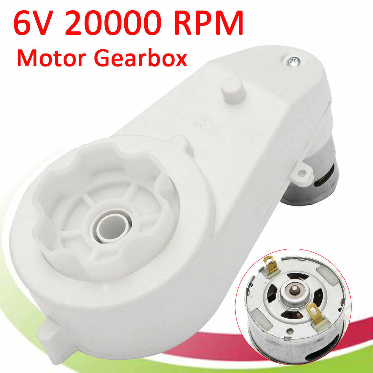 1Pc 6V 2000rpm Electric Motor Gear Box For Kids Ride On Car Bike Toy Spare Parts