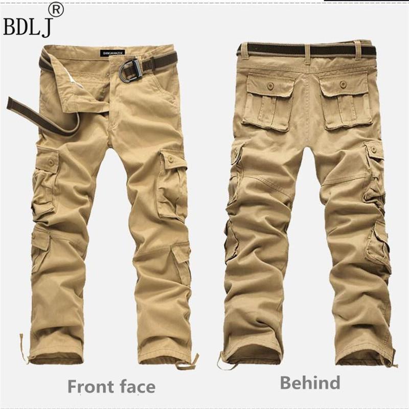 8dabbb10548c6a BDLJ 2017 New men's autumn winter pants Arrival fashion men pants high  quality cotton cargo pants army military Trousers size 44