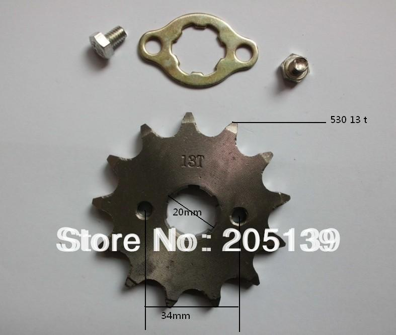 Scooter parts go kart karting quad pitbike 125cc 150cc 13t 20MM gear sprocket tandwiel FOR 530 CHAIN LIFAN MOTOR PIT BIKE image
