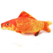 new beautiful artificial pet toy fish plush puppy dog toys cat fun sleeping pillow mint catnip