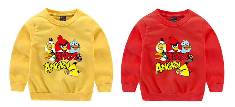 867b23681 2016 new Autumn&spring cartoon angry bird Children Outerwear hooded girls  boy sweatshirt kids clothes for 3 9T-in Hoodies & Sweatshirts from Mother &  Kids