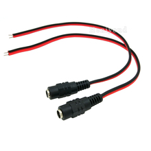 Купить с кэшбэком 10pcs/Lot, 25cm 2.1*5.5mm DC Power female Cable Pigtail Plug Adapter Tail Extension For CCTV Cameras 12V