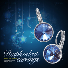 Eardrop Earrings Woman Embellished with crystals from Swarovski (4 colors)