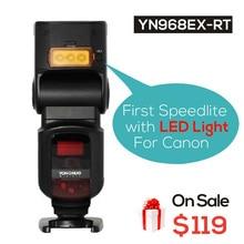 Ulanziyongnuo YN968EX-RT анти-Пледы Беспроводной Вспышка Speedlite TTL HSS светодиодные для Canon Камера, Поддержка YONGNUO YN-E3-RT  YN600EX