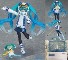 Anime Hatsune Miku Figure Snow Miku Figma EX-030 Snow Owl Ver. PVC Action Figure Collectible Model Toys Doll 14cm