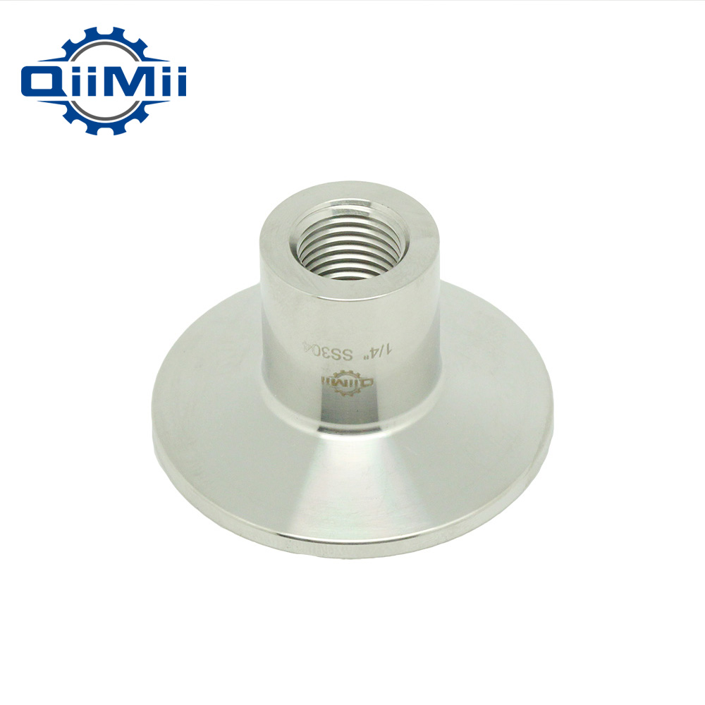 1/4-1 NPT Female x 1.5 Tri Clamp 304 Stainless Steel Sanitary Pipe Fitting Connector For Homebrew Ferrule OD 50.5mm 1 2pt npt thread male 8mm 10mm 12mm 1 4 1 2 od tube double ferrule compression pipe fitting connector ss 304 stainless steel page 8