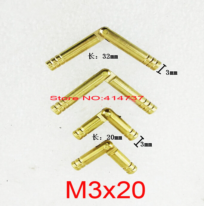 Durable 50pcs M3*20mm  3mm  Brass Barrel Hinge Round Cylindrical Hidden Cabinet Hinges Concealed Invisible Mortise Mount Hinge алексеев с т рой