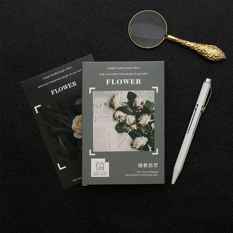 3 set/1 lot Cartoon Flower Lose Greeting Card Postcards Birthday Bussiness Gift Card Set Message Card