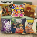 Fanximan Kunden Naruto Anime Hause Dekorative Kissen Fällen Leinen Kissen Abdeckung 45*45 CM Für Sofa Stuhl Auto Sitz
