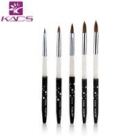 100% Kolinsky Sable acrylic brush 5pcs/SET size 2#/4#/6#/8#/10#.acrylic brush black kolinsky sable acrylic kolinsky nail brush