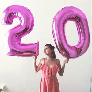 Image 5 - 1PCS 40inch gold silver number foil balloons 0 1 2 3 digit helium baloon my 1st 30th birthday party supplies Anniversary decor