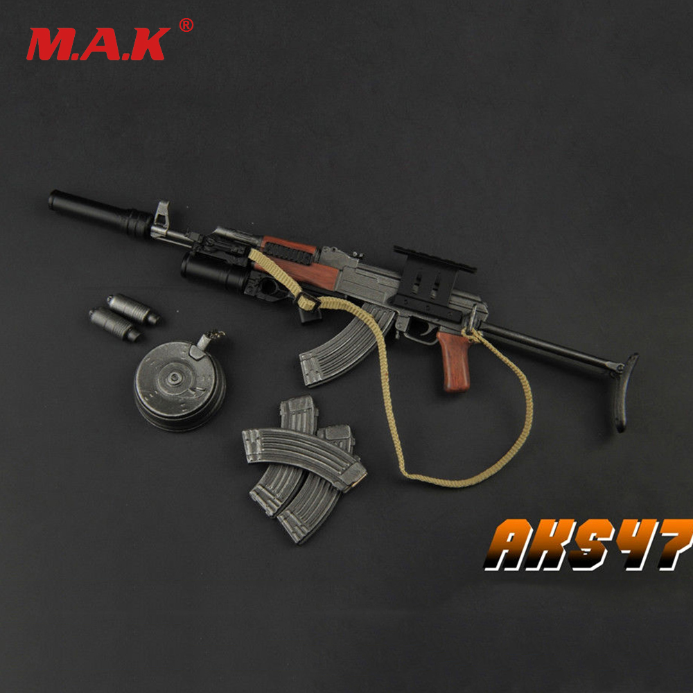 все цены на 1:6 Scale TOYS ZY2008 Plastic Gun Model AKS47 Toy 1/6 Weapon Accessories W Folding Care for 12