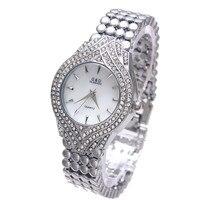 2017 New G D Watch Women Quartz Watch Silver Stainless Steel Band Relojes Mujer Luxury Bracelet