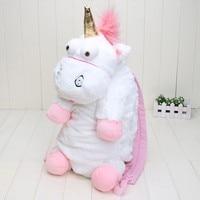 55CM Plush Unicorns Children Backpacks Kindergarten Bitherday Gifts For Girls And Boys Cute Plush Toys Bags