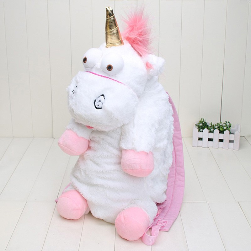 55CM Plush Unicorns Children Backpacks Kindergarten Bitherday Gifts For Girls and Boys Cute Plush toys Bags Kids Backpack Animal ivi stitch plush bags children kindergarten boy backpack plush baby children school bags design kid girls