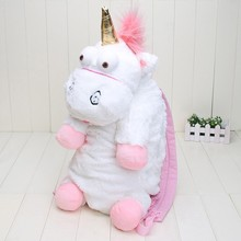 55CM Plush Unicorns Children Backpacks Kindergarten Bitherday Gifts For Girls and Boys Cute Plush toys Bags Kids Backpack Animal