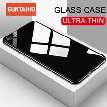 Suntaiho для я чехол для телефона 7 покрытие Edge чехол для телефона для iphone 6S чехол для iPhone XR Xs Max чехол из стекла задняя крышка телефона 8 плюс чехол на айфон 6
