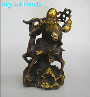 AAA+Rare Chinese Old Copper Carved Longevity god Statue/Metal Sculpture Craft For Home Decoration Antique Collection