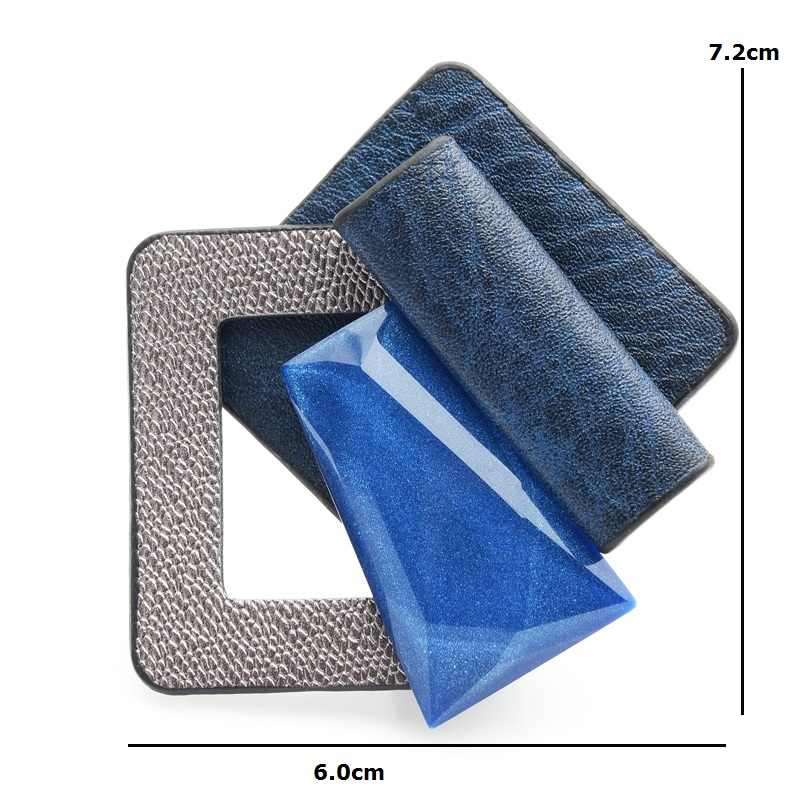 Wuli Bayi Kulit Round Acrylic Square Geometri Bros Bouquet untuk Wanita Syal Gesper Bros Pin Hadiah Sweater Perhiasan