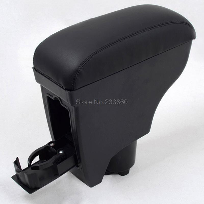 Prix pour Pour Toyota Yaris Vitz Belta 2005-2011 Accoudoir Center Console Noir En Cuir Accoudoir Intérieur Auto Accessoires