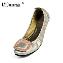 Single Shoes female Square flat shoes soft bottom bean shoes big-size omelet women's designer shoes women luxury