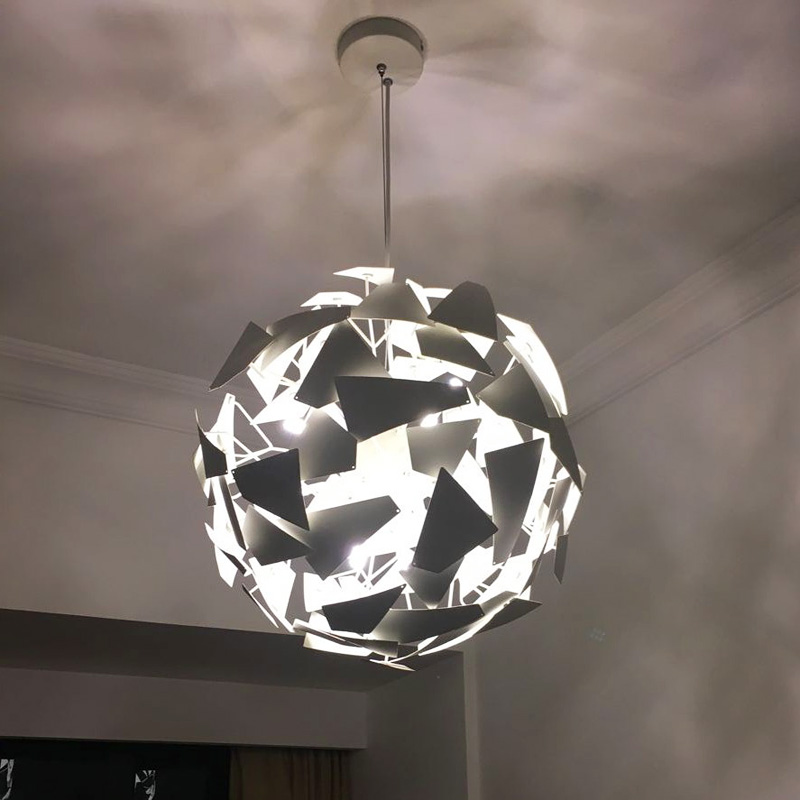 Nordic chandeliers personality creative chandeliers LED living room lamp wrought iron bedroom study chandeliers simple led lamps z post modern luxury villas led chandeliers creative silver gold living room dining room study of spherical personality lamps