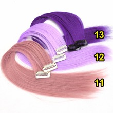 synthetic hair extensions clips in one piece